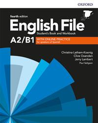 ENGLISH FILE 4TH EDITION A2/B1. STUDENT'S BOOK AND WORKBOOK WITH KEY PACK | 9780194058124 | LATHAM-KOENIG, CHRISTINA/OXENDEN, CLIVE/LAMBERT, JERRY/SELIGSON, PAUL | Llibreria La Gralla | Llibreria online de Granollers